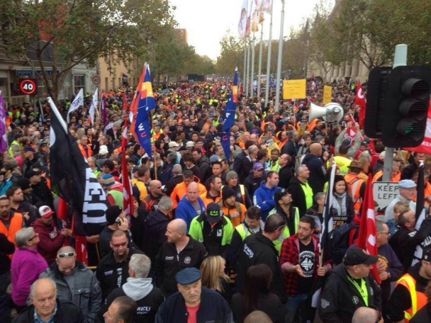 Australian Unionist Fight Against Austerity