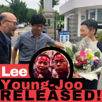 Korean union leader Lee Young-joo released!