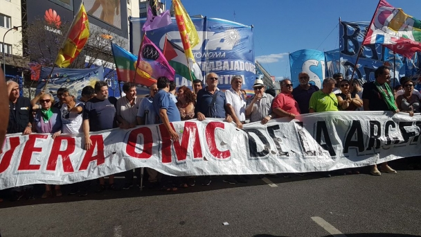 Massive Demonstration at WTO Ministerial Conference in Buenos Aires
