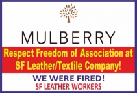 SF Leather's sacked 14 workers for being union