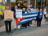 Lift the US blockade on Cuba! Return Guantanamo Bay!