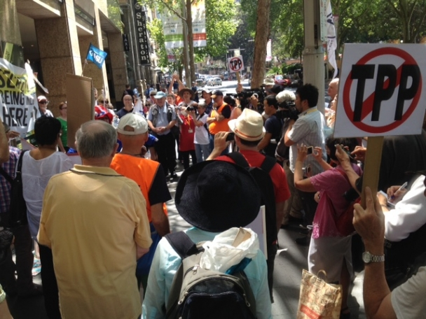 Community and Unions Rally Against TPPA