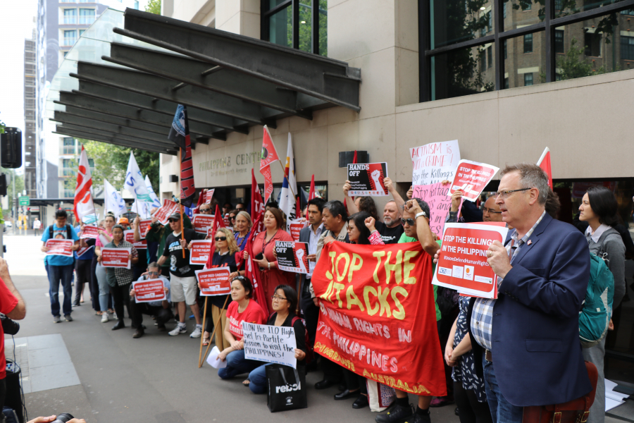 Global Unions Rally In Solidarity With the Philippines Unions