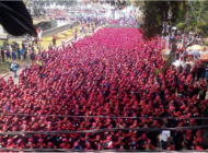Thousands of workers rally for new wage in Indonesia